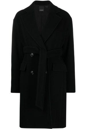 Pinko Dames Wollen jassen - Double-breasted virgin wool coat