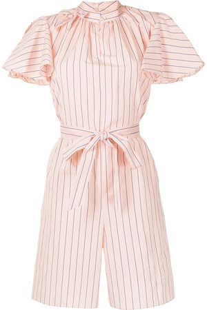 Erdem Dames Playsuits - Amalfi striped cotton playsuit