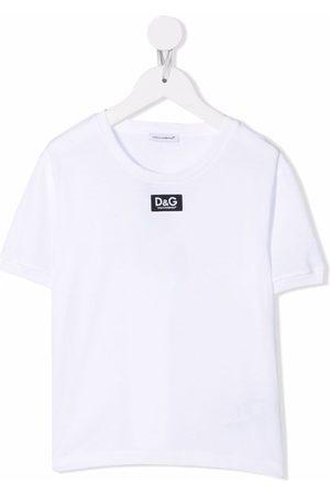 Dolce & Gabbana Jongens Korte mouw - Logo-patch short-sleeve T-shirt