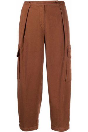 Aspesi Dames Capri's - Straight-leg cotton cargo pants