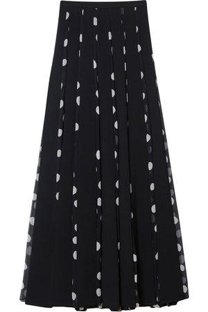 Carolina Herrera Polka-dot pleated maxi skirt
