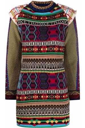 Etro Dames Gebreide jurken - Mix-pattern knit dress