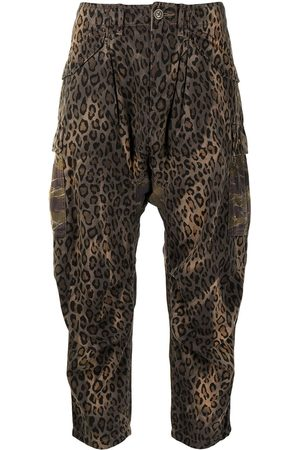 R13 Dames Capri's - Cropped leopard-print trousers