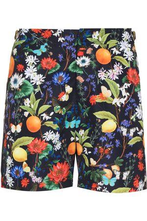 Orlebar Brown Heren Shorts - Bulldog botanical-print swim shorts