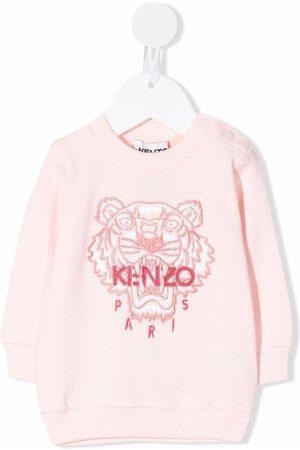 Kenzo Embroidered-logo cotton sweatshirt