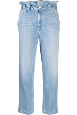 Mother Dames Straight - Yoyo Ruffle Greaser ankle jeans