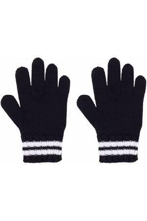 Moncler Jongens Handschoenen - Logo-patch striped gloves