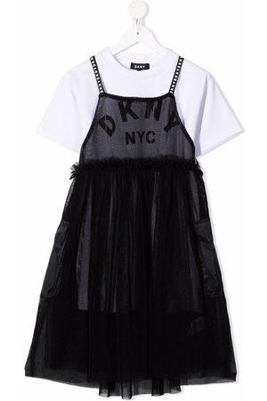 DKNY Meisjes Feestjurken - Logo-print two-in-one dress