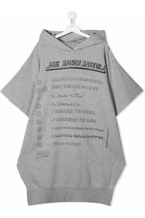 MM6 KIDS Meisjes Casual jurken - Logo-print hooded dress