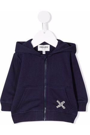 Kenzo Hoodies - Logo-print zipped hoodie