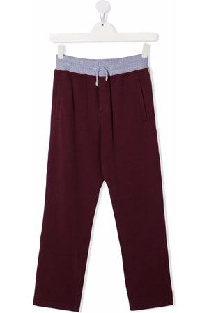Brunello Cucinelli Joggingbroeken - TEEN contrasting waistband track pants
