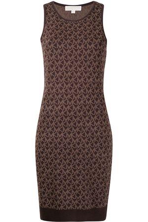 Michael Kors Dames Gebreide jurken - Bold MK logo knit tank dress