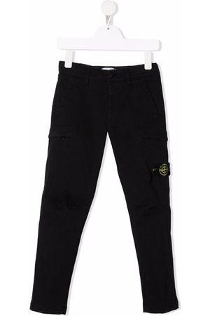 Stone Island Jongens Cargo's - Compass badge cargo trousers