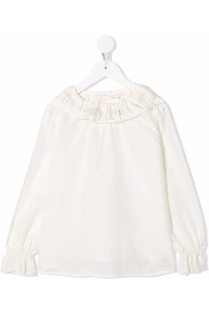BONPOINT Meisjes Blouses - Jaya ruffle-trim silk blouse