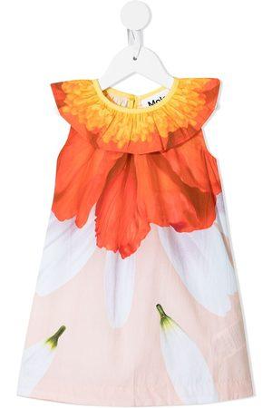 Molo Meisjes Feestjurken - Floral-print cotton dress