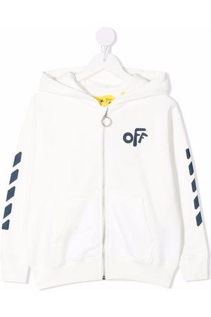 Off-White Kids Chest logo-print hoodie