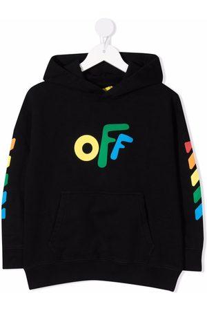Off-White Kids Graphic-print cotton hoodie