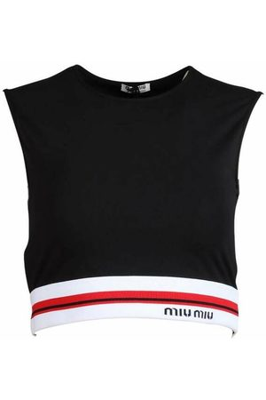 Miu Miu Jersey crop top