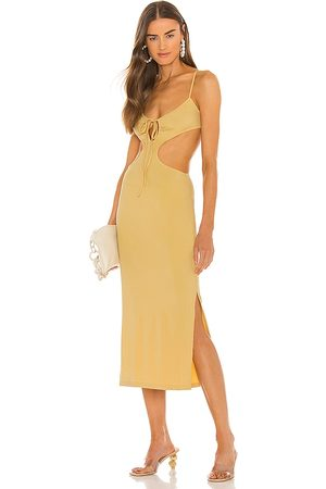 WeWoreWhat Ruched Cutout Maxi Dress in