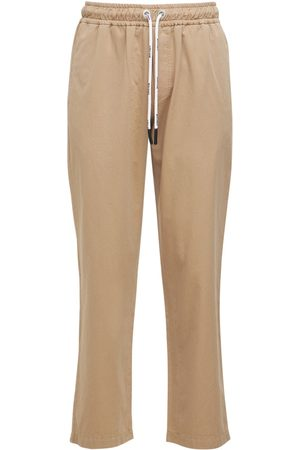PALM ANGELS Heren Chino's - Washed Logo Cotton Chinos