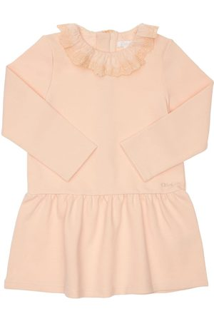 CHLOÉ Milano Jersey Knit Dress W/ruffles