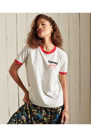 Superdry Dames T-shirts - Core Logo American Classics-T-shirt met contrasterende bies