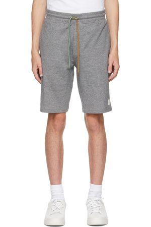 Paul Smith Grey Herringbone Jersey Shorts