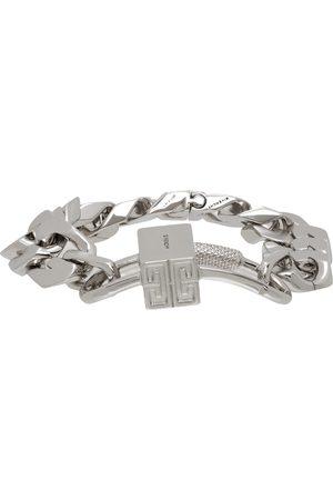 Givenchy Silver G Chain Lock Bracelet