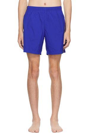 Alexander McQueen Blue Selvedge Swim Shorts