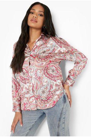 Boohoo Petite Oversized Paisley Overhemd