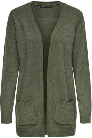 ONLY Dames Cardigans - Open Knitted Cardigan Dames Green
