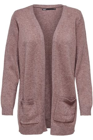 Only Dames Cardigans - Open Knitted Cardigan Dames Rood