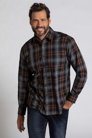 JP 1880 Heren Overhemden - Grote Maten Geruit Overhemd, Heren