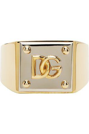 Dolce & Gabbana Heren Ringen - Gold & Silver Logo Ring