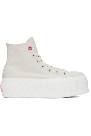 Converse Beige Chuck Taylor All Star Lift Ripple High Sneakers