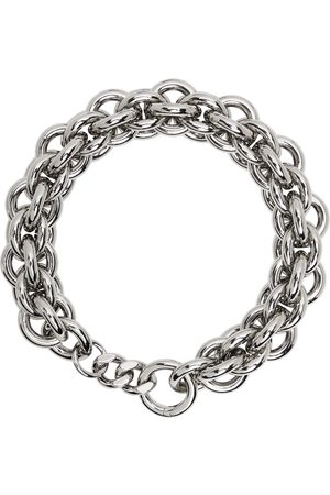 1017 ALYX 9SM Silver Dual Chunky Chain Necklace