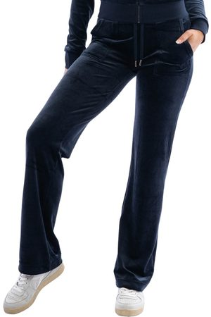 Juicy Couture Del Ray Classic Velour Pant Pocket Design