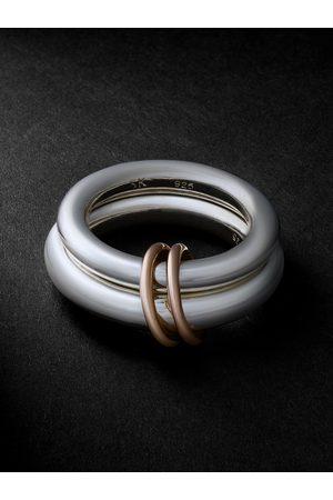 SPINELLI KILCOLLIN Heren Ringen - Virgo White and Rose Gold Ring