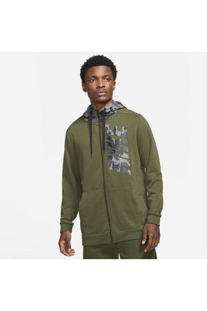 Nike Dri-FIT Trainingshoodie met rits en camouflageprint voor heren
