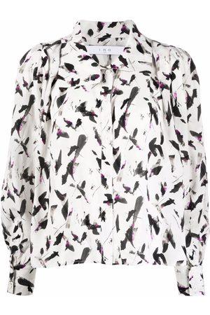 IRO Dames T-shirts - Abstract-print silk-blend shirt