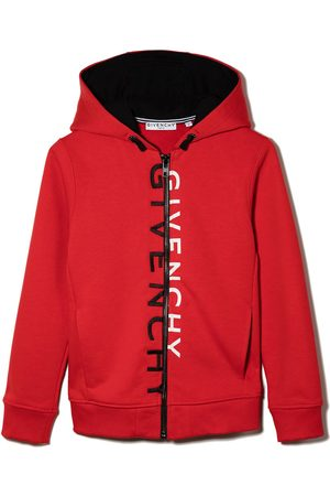Givenchy Kids Split logo zipped hoodie