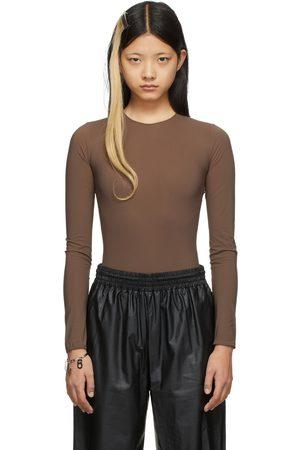 Maison Margiela Brown Nylon Second Skin Bodysuit