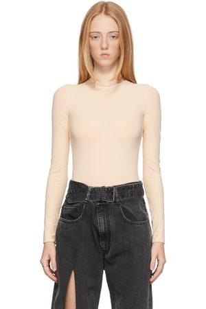 Maison Margiela Off-White Nylon Second Skin Bodysuit