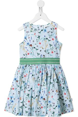 Molo Floral-print flared dress