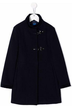 FAY KIDS High-neck wool-blend duffle coat