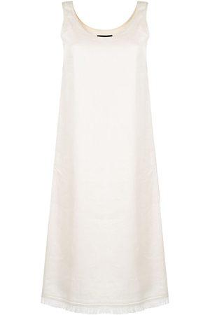 THEORY Dames Zomerjurken - Linen frayed-hem dress