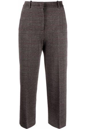 Pinko Dames Capri's - Prince of Wales-check trousers