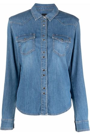 Pinko Dames Lange mouw - Long-sleeve denim shirt