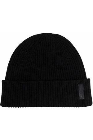 Armani Logo-patch cashmere-knit beanie