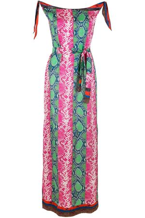 AMIR SLAMA Dames Feestjurken - Printed silk maxi dress